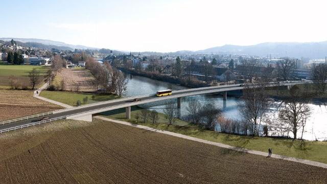 Visualisierung der neuen Reussbrücke