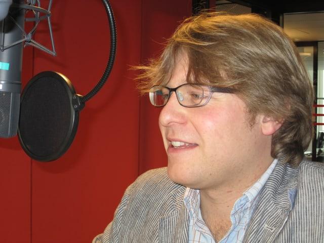 Simon Mathys, zu Gast im Studio des Regionaljournals Zürich Schaffhausen.