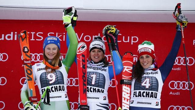 Las victuras dal slalom gigant a Flachau.