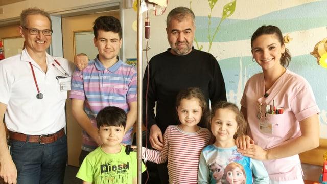 Der kleine Mohammad und seine Zwillingsschwestern brauchen jeden Monat eine Bluttransfusion. Sie kamen schwer krank in die Schweiz.