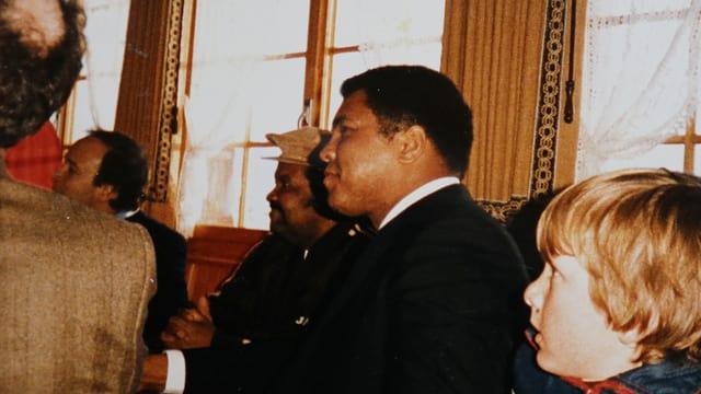 Muhammad Ali en l'ustaria Pellas.