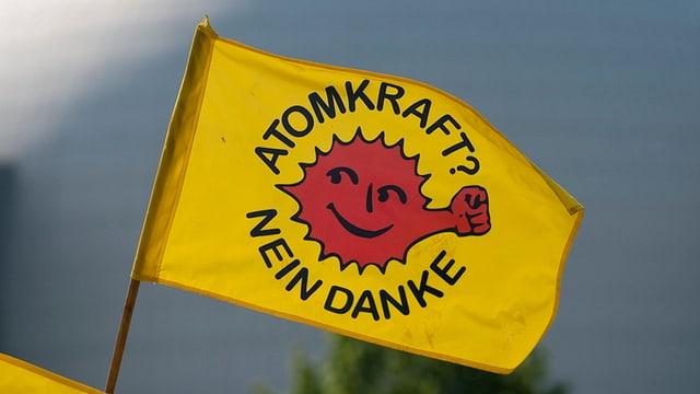 Flagge von Atomkraftsgegern.
