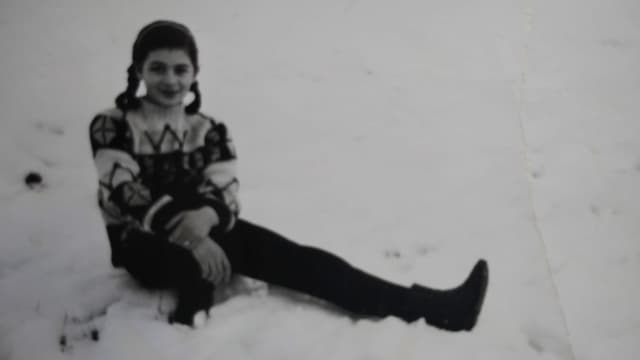 Porris erster Winter in der Schweiz 1962.