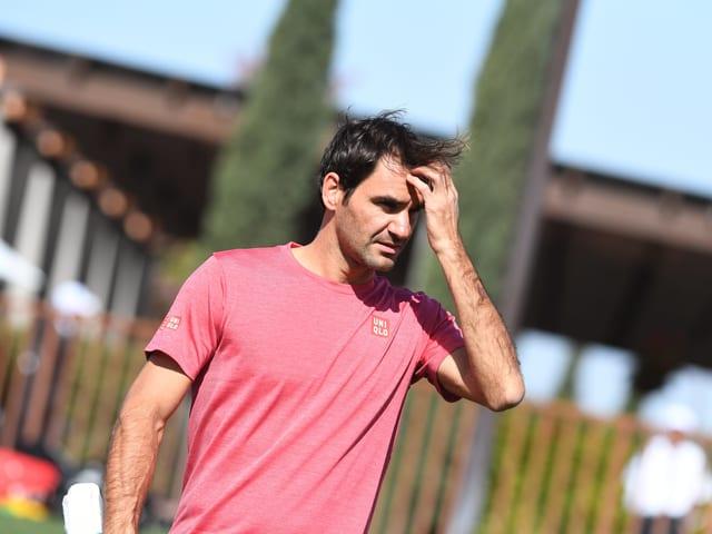 Roger Federer startet am Sonntagabend zum Turnier von Indian Wells.