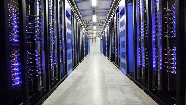 Serverraum von Facebook in Schweden.