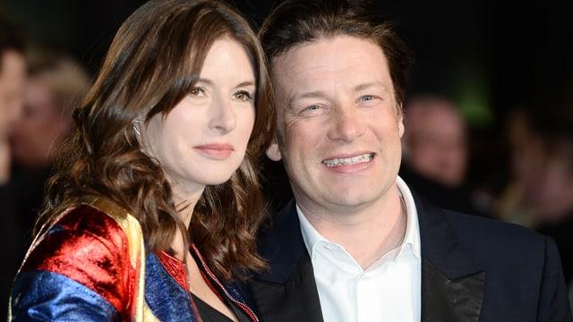 Portrait von Jamie Oliver und seiner Frau Jools