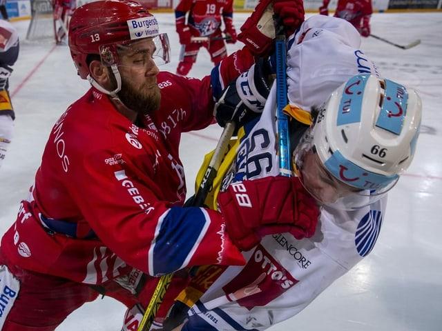 Zweikampf im Eishockey