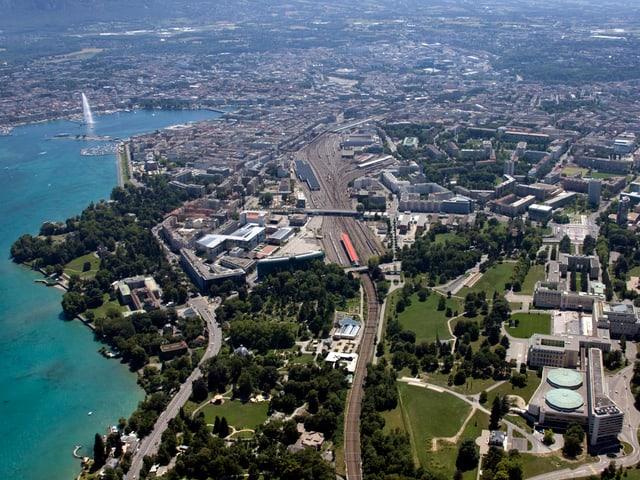 Luftaufnahme von Genf.