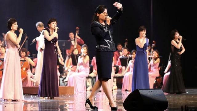 Das Samjiyon-Orchester.