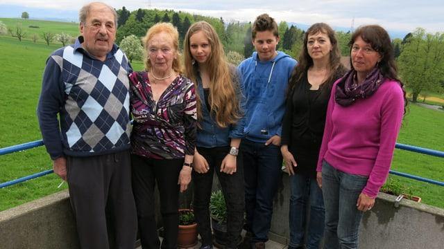 Foto der Familie Bucher.