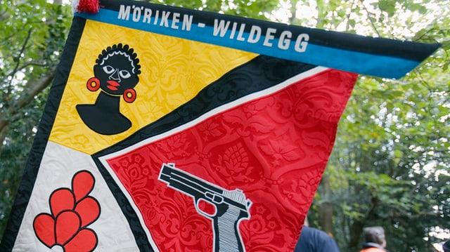 Fahne der Pistolenschützen Möriken-Wildegg