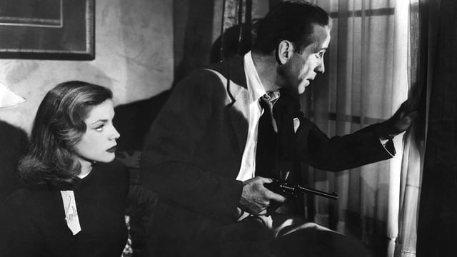 Lauren Bacall und Humphrey Bogart im Film «The  Big Sleep»