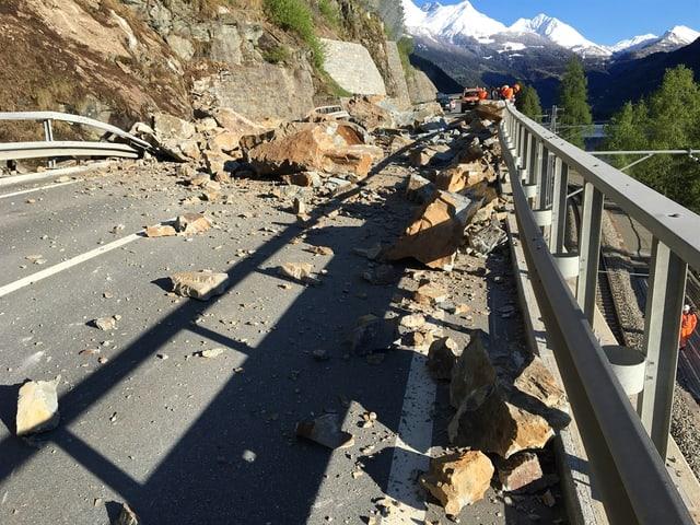 Purtret da la crappa amez la via dal Bernina.