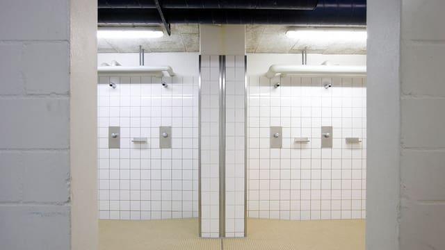 Duschanlage im Garderoben-Bereich der Klotener Kolping Arena.