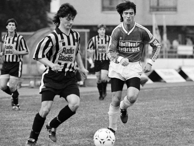 Joachim Löw in einem Spiel mit Schaffhausen im Jahr 1991.