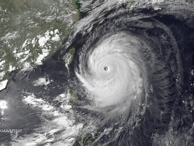 Satellitenbild des Taifum Neoguri