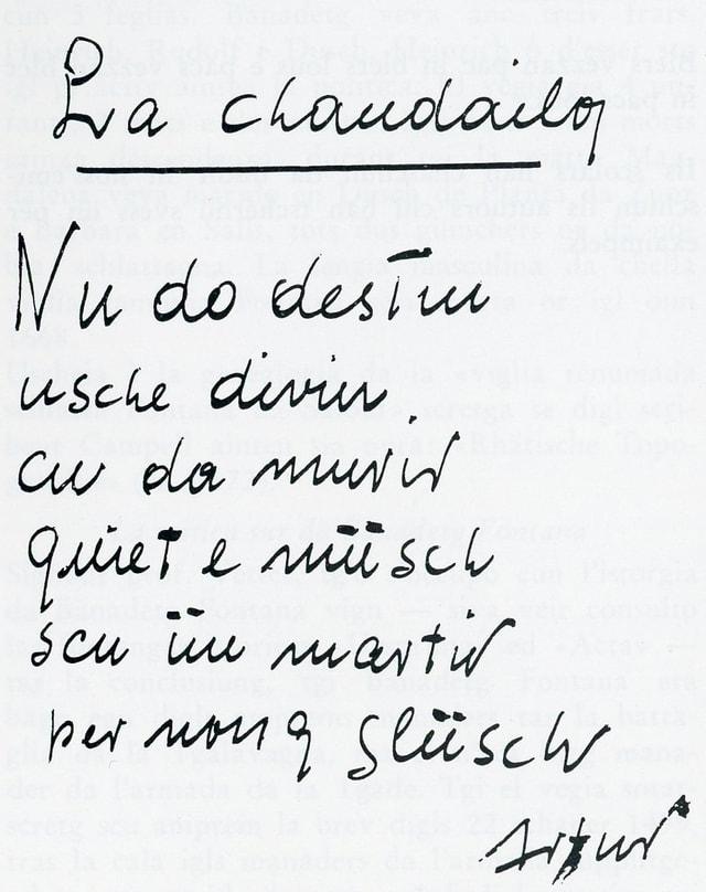 Manuscrit dad Artur Caflisch