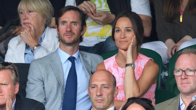 Pippa Middleton und James Matthews beim diesjährigen Tennisturnier in Wimbledon.