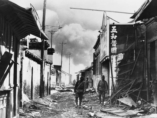 Japanische Soldaten in Nanjing