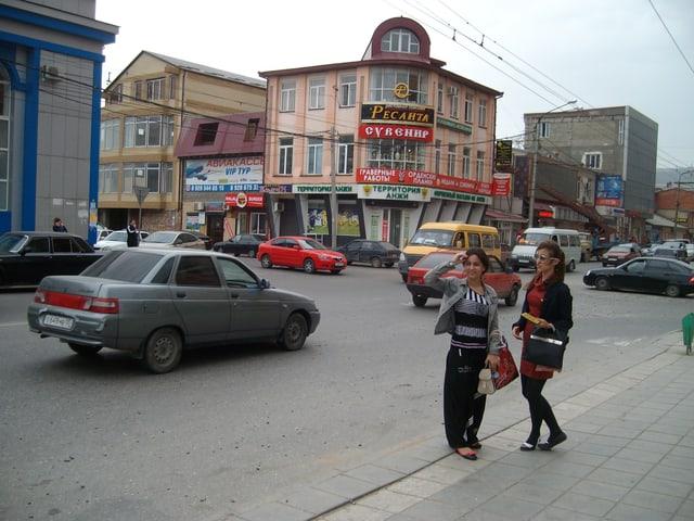Das Geschäftszentrum der dagestanischen Hauptstadt Machatschkala.