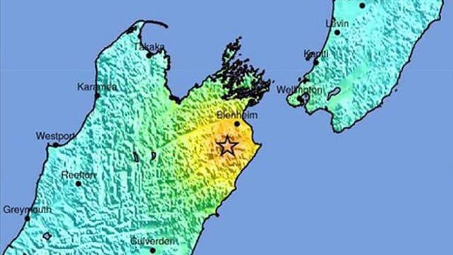 Karte von Neuseeland.