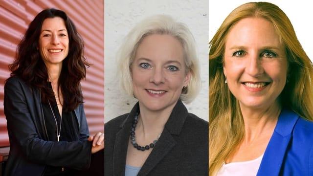 Sie wollen in die Basler Regierung: Tanja Soland (SP), Nadine Gautschi (FDP) und Katja Christ (GLP).