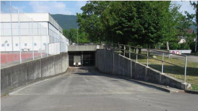 Zugang zu Zivilschutzanlage.