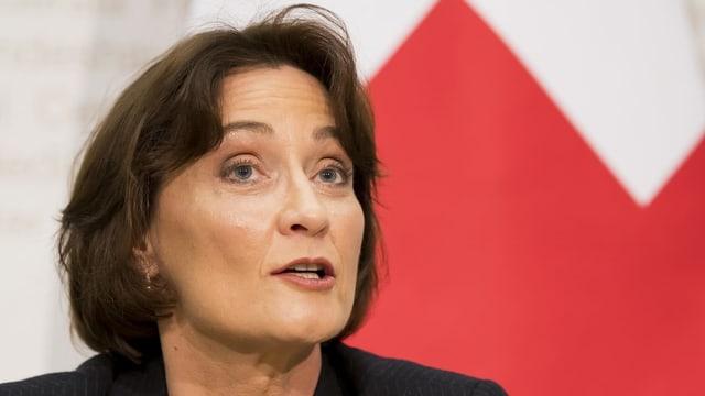 Pascale Baeriswyl vor den Medien in Bern