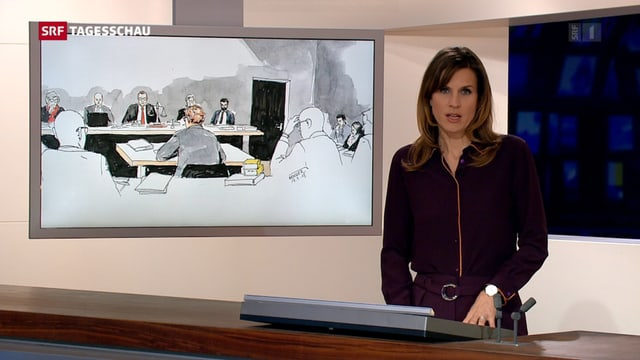 «Tagesschau»-Moderatorin Cornelia Boesch macht die Anmoderation eines Beitrags zum Fall Rupperswil