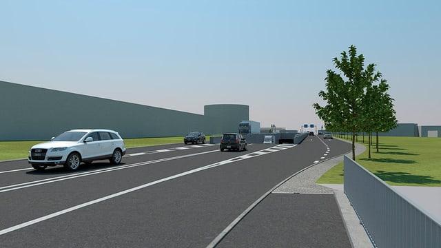 Visualisierung Tunnel Bauprojekt A1-Zubringer Lenzburg