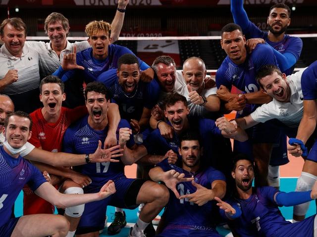 Frankreichs Volleyballer.