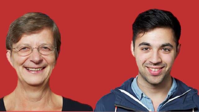 Landrätin Regula Meschberger und Adil Koller.