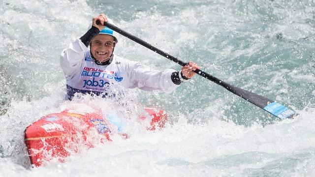 Sabine Eichenberger in Aktion