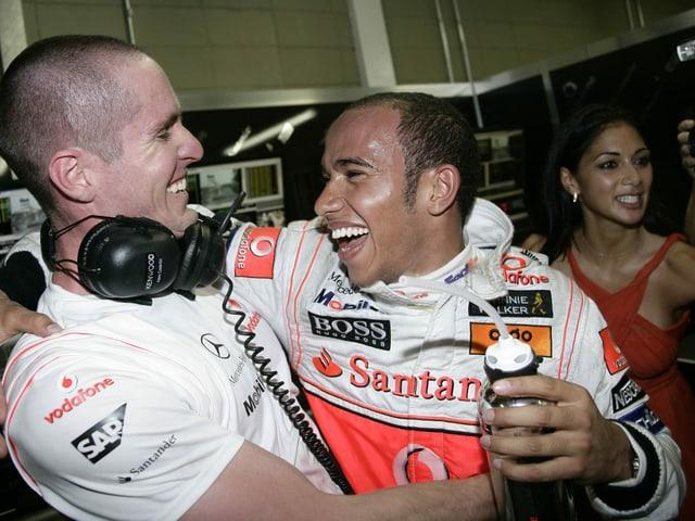 Lewis Hamilton wird am 2. November 2008 der jüngste F1-Weltmeister aller Zeiten.