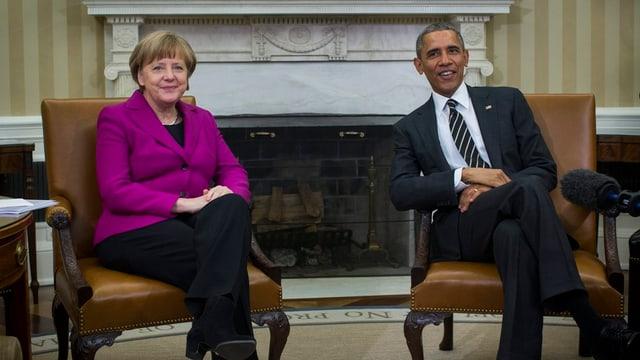Angela Merkel e Barack Obama.