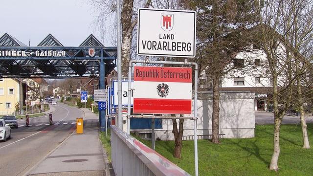 Grenzübergang Schweiz - Österreich.