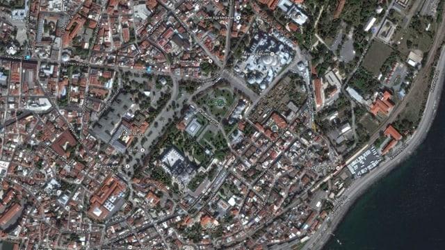 vista da surengiu sin Istanbul, quartier Sultanahmet