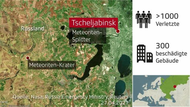 Karte von Tscheljabinsk