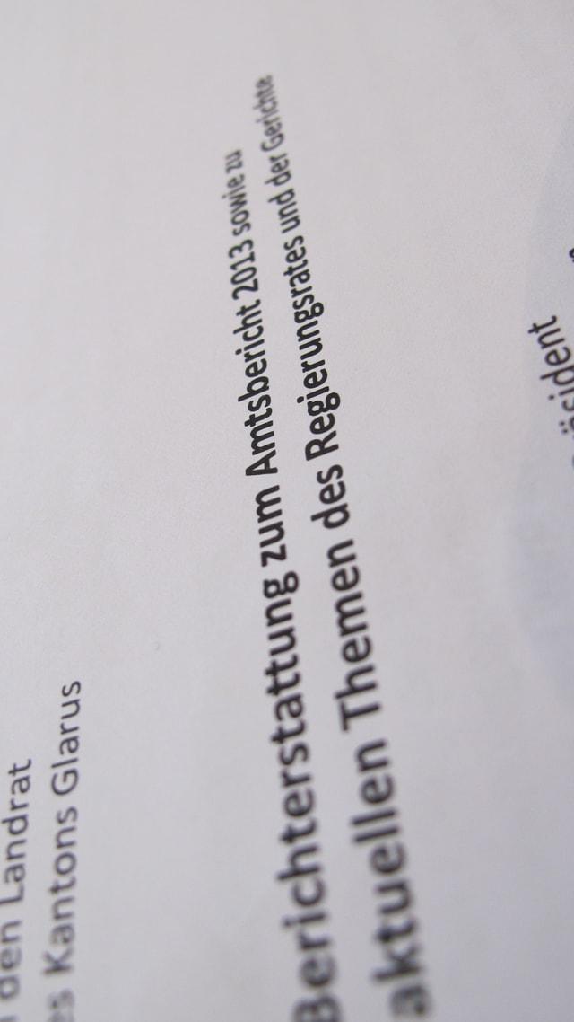 Titelblatt des Amtsberichtes.