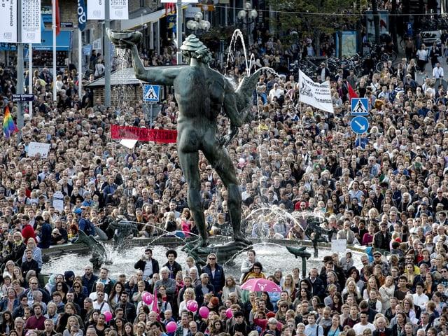 Demonstration für Flüchtlinge im Sommer 2015 in Göteborg.