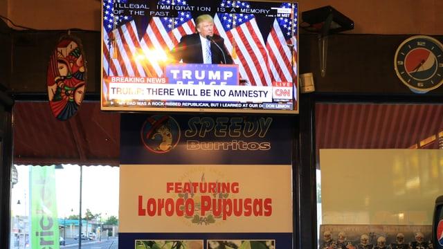 Trump auf einem TV-Bildschirm