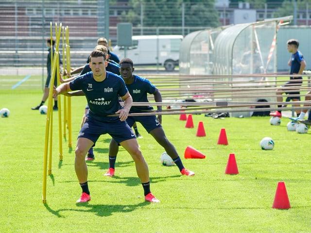 FCZ-Spieler beim Training.