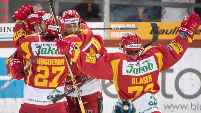 Quatter giugaders da hockey