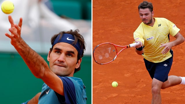 Roger Federer und Stainslas Wawrinka.