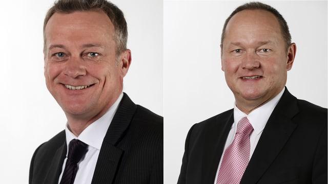 Porträt-Aufnahmen beider Politiker.