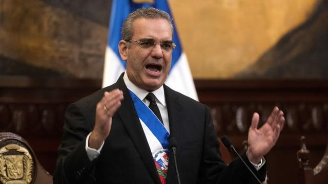 Präsident Luis Abinader.