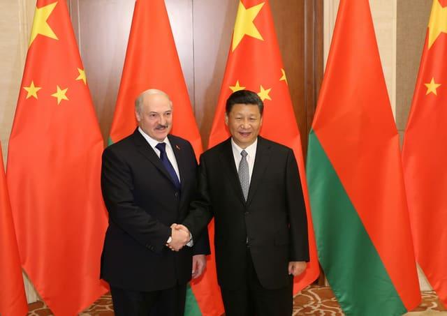 Lukaschenko und Xi im Mai 2019 in Peking.