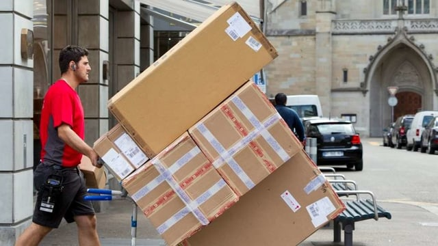 Um che transportescha pachets.