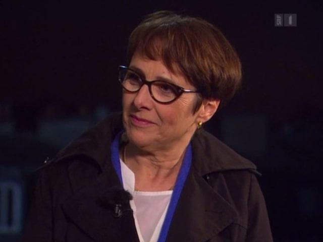 Die französische Historikerin bei der Wahlsendung von SRF in Paris
