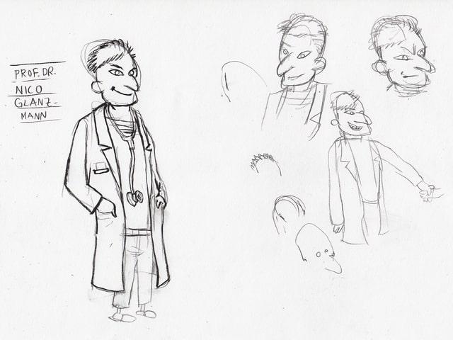 Illustration eines Facharztes.